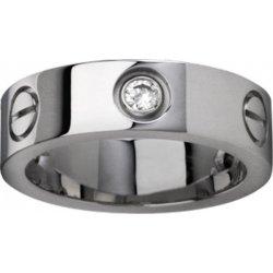 Women's Love Diamond Design Cartier Style Silver Color Titanium Steel Ring CCR-08