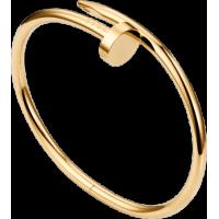 Women's Nail Style Gold Color Titanium Steel Bracelet CCB-08