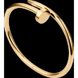 Women's Nail Style Gold Color Titanium Steel Bracelet CCB-09
