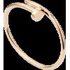 Women's Nail Style Rose Gold Color Titanium Steel Bracelet CCB-07
