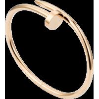 Women's Nail Style Rose Gold Color Titanium Steel Bracelet CCB-09