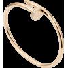 Women's Diamond Nail Style Rose Gold Color Titanium Steel Bracelet CCB-10