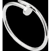 Women's Nail Style Silver Color Titanium Steel Bracelet CCB-09