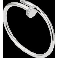 Women's Diamond Nail Style Silver Color Titanium Steel Bracelet CCB-12