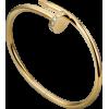 Women's Diamond Nail Style Gold Color Titanium Steel Bracelet CCB-11