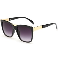 European Style Retro Fashion Black Color Sunglasses G-01 (Black)
