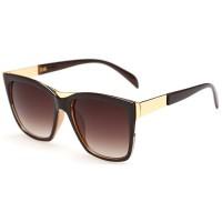 European Style Retro Fashion Dark Brown Color Sunglasses G-01 (Brown)