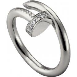 Women's Diamond Nail Style Silver Color Titanium Steel Ring CCR-27