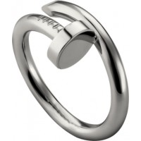 Women's Nail Style Silver Color Titanium Steel Ring CCR-24