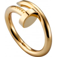 Women's Nail Style Gold Color Titanium Steel Ring CCR-23