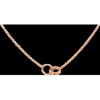 Women's Love Cartier Style Rose Gold Color Titanium Steel Necklace CCN-07