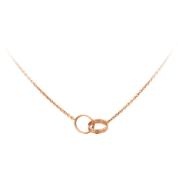 Women's Love Cartier Style Rose Gold Color Titanium Steel Necklace CCN-07
