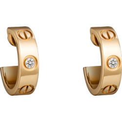 Women's Love Cartier Style Gold Color Titanium Steel Earring CCE-06