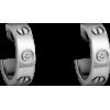 Women's Love Design Diamond Cartier Style Silver Color Titanium Steel Earring CCE-08