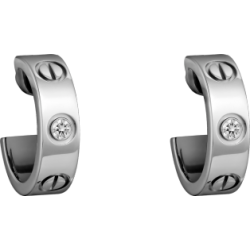 Women's Love Design Diamond Cartier Style Silver Color Titanium Steel Earring CCE-08