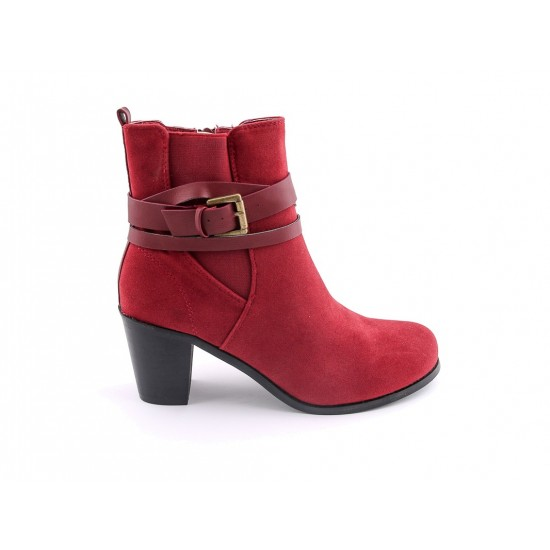 Stylo Ladies Red Color Casual Shoes LWSC-08R