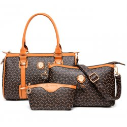 Women's Fashion Three Piece Bag,Mobile Messenger HandBags,Casual Bag CLB-135Br