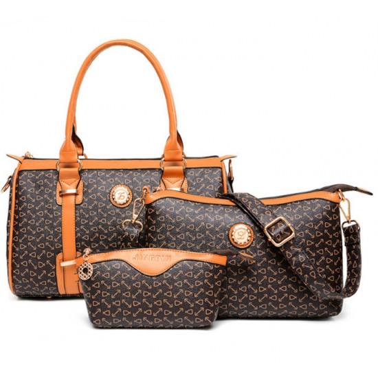 Women's Fashion Three Piece Bag,Mobile Messenger HandBags,Casual Bag CLB-135Br