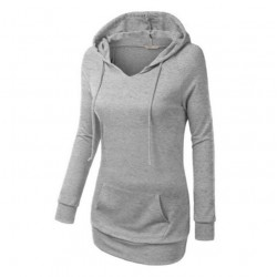 Women's Fashion Grey Color Cotton Casual Long Sweater WH-05GR