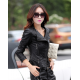 Women Fashion Black Color Leather Casual Jacket WJ-24BK