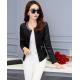 Women's European Fashion Slim Full Sleeves Black Leather Jacket WJ-01Bk image