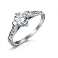 Luxury CZ Diamond Handmade Wedding Engagement Ring Cubic Inlaid Modern Jewelry CBR-63