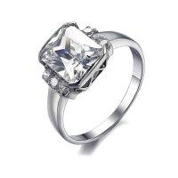 White Crystal Titanium Stainless Steel Ring Vintage Modren Jewelry CBR-62