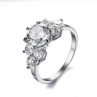 Vintage Exaggerated CZ Diamond Inlaid Women Wedding Modern Jewelry Ring CBR-74