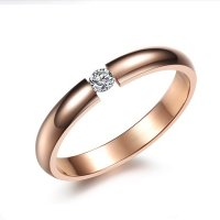 Women Rose Gold Plated Modern Jewelry Exquisite Stainless Steel Ring CBR-75