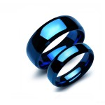 Love Bands Blue Color Promise Couple Ring CBR-82