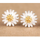 Woman Silver Daisy Flower Beautiful Small Earrings  E-11