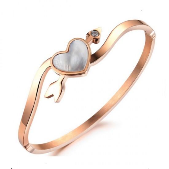 Heart Arrow Of Love Alloy Gold Bracelet For Women CHBD-76G image