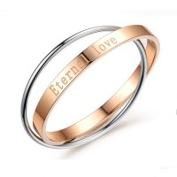 Eternal Love Rose Gold & Silver Plated  Bracelets Best Gift For Women CHBD-78