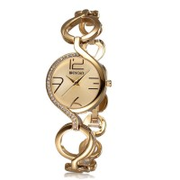 WEIQIN Hai Retro Hollow Outer Cage Gold Strap Large Digital Scale Ladies Watch  CHD-27G