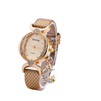 Women Fashion Oval Diamond Leather Bracelet Moon Star Watch CHD-41BR