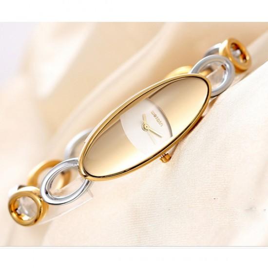 Luxury Hollow Oval Small Dial Bracelet Women Fashion Watch CHD-38GW image