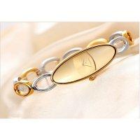 Luxury Hollow Oval Small Dial Bracelet Women Fashion Watch CHD-38GG