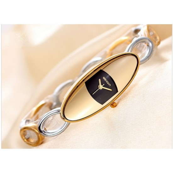 Luxury Hollow Oval Small Dial Bracelet Women Fashion Watch CHD-38GB image