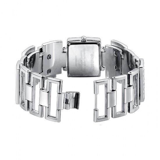 WEIQIN Square Silver Full Diamond Bracelet Ladies Watch CHD-73S image