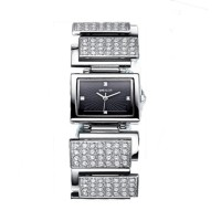 WEIQIN Square Silver Full Diamond Bracelet Ladies Watch CHD-73S