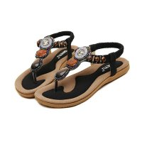 Bohemian Beaded Clip Women Sandal CSW-04BK