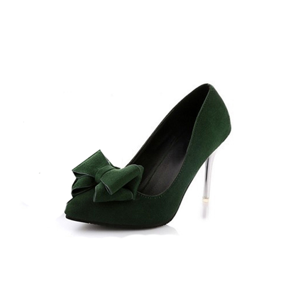 Women Fashion Sweet Bow Pointed Party High Heels CHW-07GR image