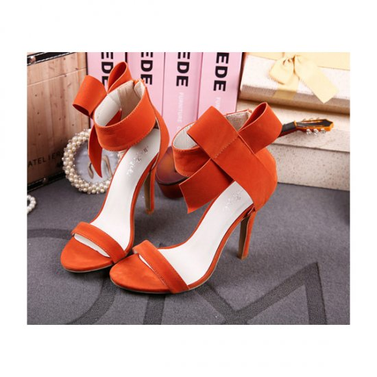 European Style Bow Bow Orange Yards Women Heels CHW-22OR