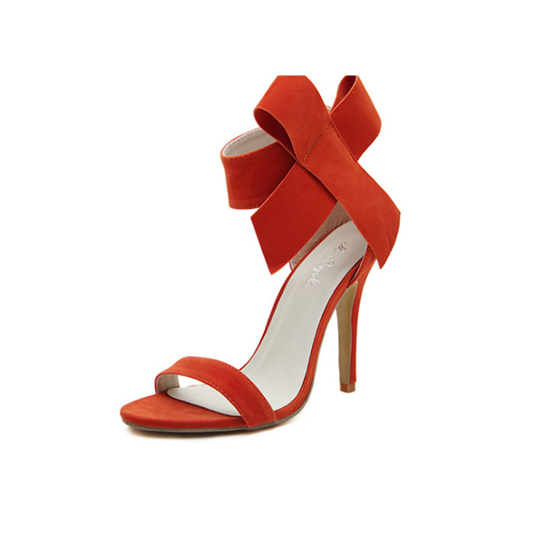European Style Bow Bow Orange Yards Women Heels CHW-22OR image