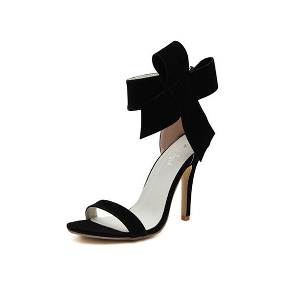 European Style Bow Bow Black Yards Women Heels CHW-22BK image