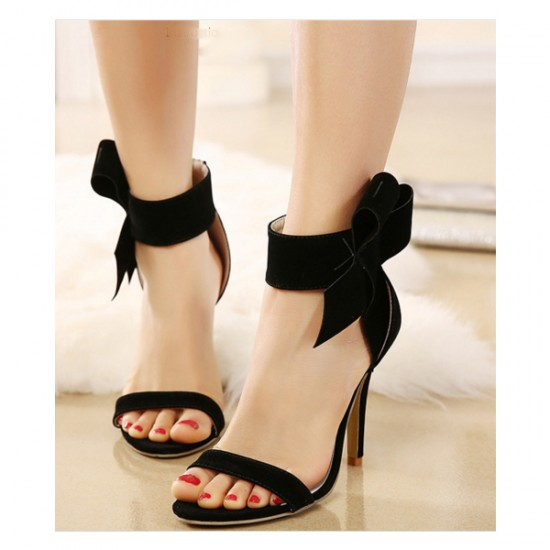 European Style Bow Bow Black Yards Women Heels CHW-22BK