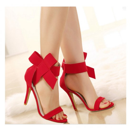European Style Bow Bow Red Yards Women Heels CHW-22RD