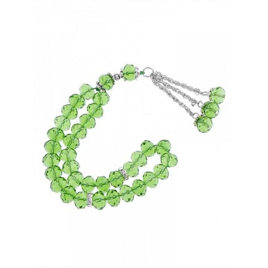Masbaha Unisex Translucent Faceted Crystal Prayer Beads ANM-03 image