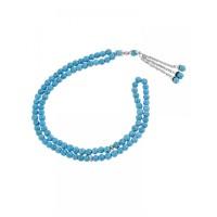 Masbaha Unisex Chalk Turquoise Prayer Beads ANM-04
