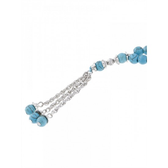 Masbaha Unisex Chalk Turquoise Prayer Beads ANM-04 image